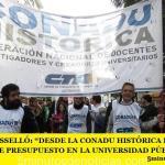 """ANTONIO ROSSELLÓ: """"DESDE LA CONADU HISTÓRICA DECIMOS NO AL AJUSTE DE PRESUPUESTO EN LA UNIVERSIDAD PÚBLICA Y LA CIENCIA"""""""