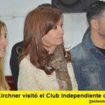 CRISTINA KIRCHNER VISITÓ EL CLUB INDEPENDIENTE DE MERLO