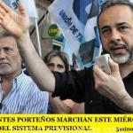 LOS DOCENTES PORTEÑOS MARCHAN ESTE MIÉRCOLES EN DEFENSA DEL SISTEMA PREVISIONAL