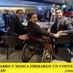 MICHETTI, GARRO Y MOSCA FIRMARON UN CONVENIO POR LA ACCESIBILIDAD