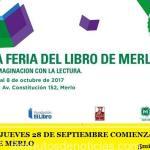 EL PRÓXIMO JUEVES 28 DE SEPTIEMBRE COMIENZA LA 1° FERIA DEL LIBRO DE MERLO