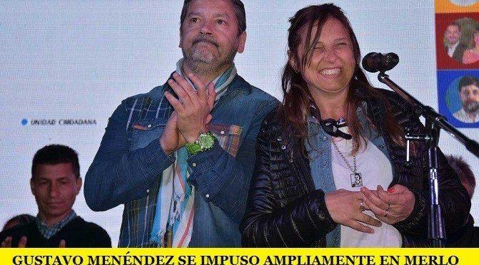 GUSTAVO MENÉNDEZ SE IMPUSO AMPLIAMENTE EN MERLO