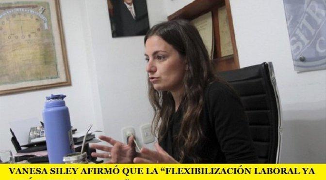 """VANESA SILEY AFIRMÓ QUE LA """"FLEXIBILIZACIÓN LABORAL YA ESTÁ ENTRE NOSOTROS"""""""