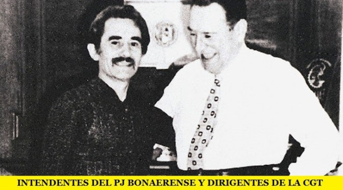 INTENDENTES DEL PJ BONAERENSE Y DIRIGENTES DE LA CGT HOMENAJEAN A RUCCI