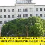 LA JUSTICIA DE SANTA FE DEJÓ SIN EFECTO LA SANCIÓN IMPUESTA POR EL COLEGIO DE PSICÓLOGOS A MARÍA BELÉN CATALANO