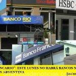 """""""DÍA DEL BANCARIO"""": ESTE LUNES NO HABRÁ BANCOS NI ACTIVIDAD BURSÁTIL EN ARGENTINA"""