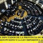 LA CÁMARA DE DIPUTADOS DE LA PROVINCIA DE BUENOS AIRES APROBÓ EL PRESUPUESTO Y LA LEY IMPOSITIVA 2018