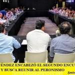 GUSTAVO MENÉNDEZ ENCABEZÓ EL SEGUNDO ENCUENTRO DEL PJ BONAERENSE  Y BUSCA REUNIR AL PERONISMO