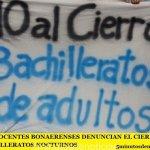 LOS DOCENTES BONAERENSES DENUNCIAN EL CIERRE DE BACHILLERATOS NOCTURNOS
