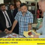 LA MUNICIPALIDAD DE MERLO FIRMA CONVENIOS CON LA UNIVERSIDAD DEL OESTE