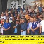 """LA """"MULTISECTORIAL 21F"""" CONVOCA A MOVILIZAR AL CONGRESO PARA RESPALDAR LA LEY QUE FRENE LOS TARIFAZOS"""