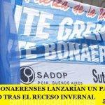 LOS DOCENTES BONAERENSES LANZARÍAN UN PARO POR TIEMPO INDETERMINADO TRAS EL RECESO INVERNAL