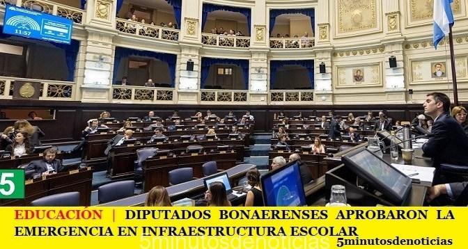 EDUCACIÓN | DIPUTADOS BONAERENSES APROBARON LA EMERGENCIA EN INFRAESTRUCTURA ESCOLAR