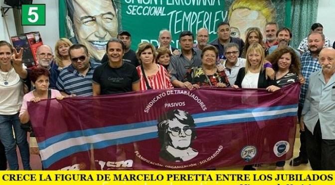 CRECE LA FIGURA DE MARCELO PERETTA ENTRE LOS JUBILADOS