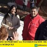 LEO NARDINI SUPERVISÓ LA PAVIMENTACIÓN DE LA CALLE JOSÉ MARÍA MÁRQUEZ