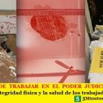 EL RIESGO DE TRABAJAR EN EL PODER JUDICIAL | La AJB defiende la integridad física y la salud de los trabajadores