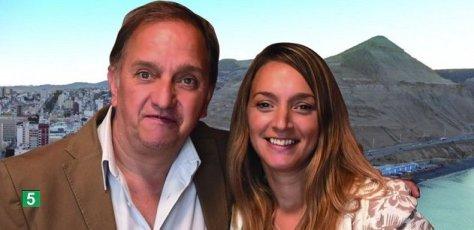 Los candidatos del Frente Patriótico de Chubut, Carlos Linares y Claudia Bard