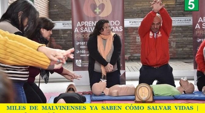 MILES DE MALVINENSES YA SABEN CÓMO SALVAR VIDAS | Jornada especial en RCP