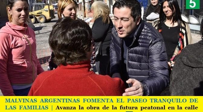 MALVINAS ARGENTINAS FOMENTA EL PASEO TRANQUILO DE LAS FAMILIAS | Avanza la obra de la futura peatonal en la calle Talcahuano