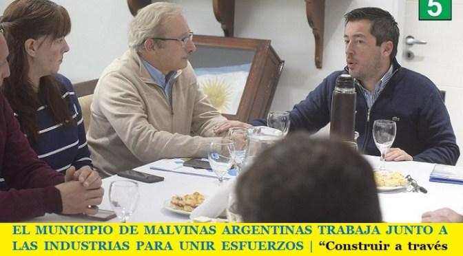 """EL MUNICIPIO DE MALVINAS ARGENTINAS TRABAJA JUNTO A LAS INDUSTRIAS PARA UNIR ESFUERZOS   """"Construir a través del diálogo"""""""