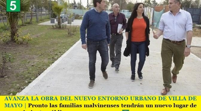 AVANZA LA OBRA DEL NUEVO ENTORNO URBANO DE VILLA DE MAYO   Pronto las familias malvinenses tendrán un nuevo lugar de esparcimiento público