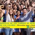 CON LA PRESENCIA DE LEO NARDINI SE REALIZÓ LA 4º CARRERA DE LOS COLORES | Diversión sana y festejo familiar en Malvinas Argentinas