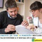 DESDE EL FRENTE DE TOD☀S PORTEÑO RECLAMAN LEY DE EMERGENCIA ECONÓMICA Y SOCIAL EN CABA