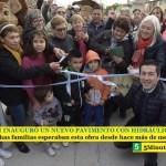 LEO NARDINI INAUGURÓ UN NUEVO PAVIMENTO CON HIDRÁULICA EN GRAND BOURG | Muchas familias esperaban esta obra desde hace más de medio siglo