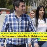 LEO NARDINI INAUGURÓ UNA NUEVA OBRA INTEGRAL | Más soluciones definitivas para la familia de Malvinas Argentinas