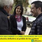 LEO NARDINI RECORRIÓ LA OBRA INTEGRAL DE LA CALLE EVA PERÓN | Solución definitiva al pedido de los vecinos