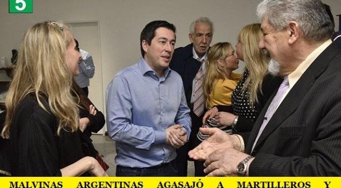 MALVINAS ARGENTINAS AGASAJÓ A MARTILLEROS Y CORREDORES PÚBLICOS