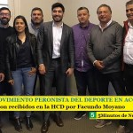 EL MOVIMIENTO PERONISTA DEL DEPORTE EN ACCIÓN | Fueron recibidos en la HCD por Facundo Moyano