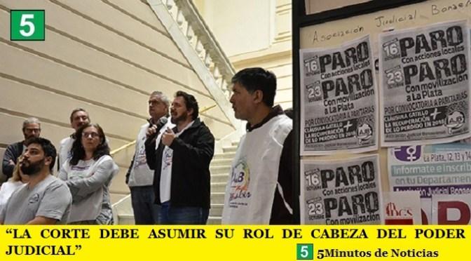 """""""LA CORTE DEBE ASUMIR SU ROL DE CABEZA DEL PODER JUDICIAL"""""""