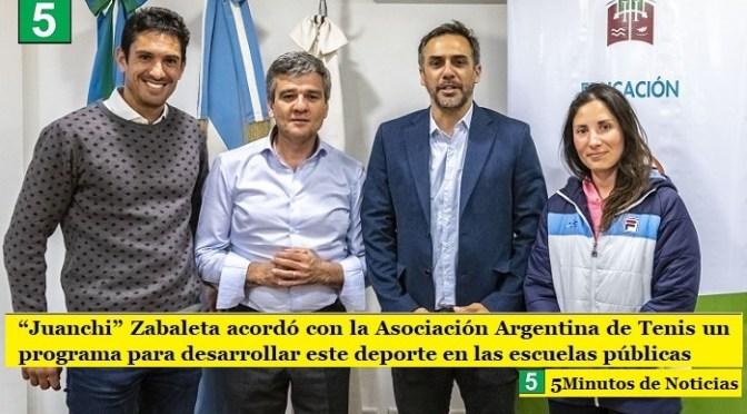 """""""Juanchi"""" Zabaleta acordó con la Asociación Argentina de Tenis un programa para desarrollar este deporte en las escuelas públicas"""