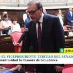 LUIS VIVONA ES EL VICEPRESIDENTE TERCERO DEL SENADO BONAERENSE   Lo aprobó por unanimidad la Cámara de Senadores