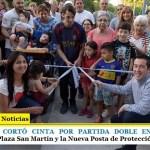 LEO NARDINI CORTÓ CINTA POR PARTIDA DOBLE EN ING. ADOLFO SOURDEAUX   Plaza San Martín y la Nueva Posta de Protección Ciudadana