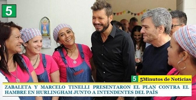 """""""JUANCHI"""" ZABALETA Y MARCELO TINELLI PRESENTARON EL PLAN CONTRA EL HAMBRE EN HURLINGHAM JUNTO A INTENDENTES DEL PAÍS"""