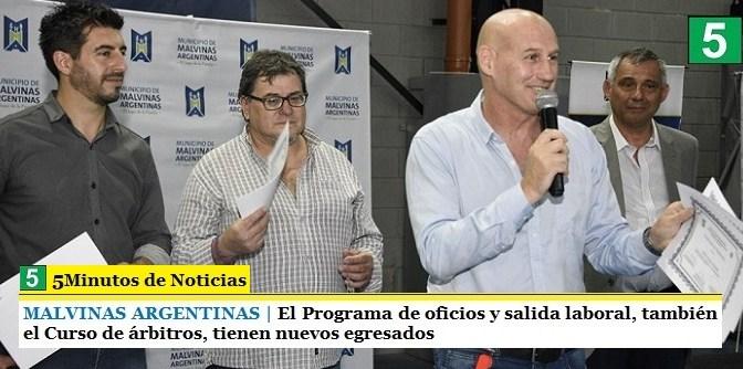 MALVINAS ARGENTINAS   El Programa de oficios y salida laboral, también el Curso de árbitros, tienen nuevos egresados