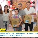ZABALETA Y KATOPODIS ENTREGARON CAJAS NAVIDEÑAS EN EL MERENDERO DEL BARRIO LOS MILAGROS