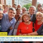 ALBERTO FERNÁNDEZ RECIBIÓ AL INTENDENTE ZABALETA Y A JUBILADOS DE HURLINGHAM EN LA CASA ROSADA