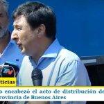 EL MINISTRO ARROYO JUNTO A TOLOSA PAZ ENCABEZARON EL ACTO DE DISTRIBUCIÓN DE 560.000 TARJETAS ALIMENTAR EN LA PROVINCIA DE BUENOS AIRES