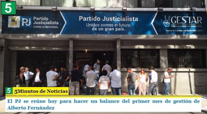 El PJ se reúne hoy para hacer un balance del primer mes de gestión de Alberto Fernández