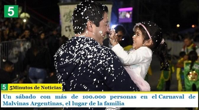 Un sábado con más de 100.000 personas en el Carnaval de Malvinas Argentinas, el lugar de la familia