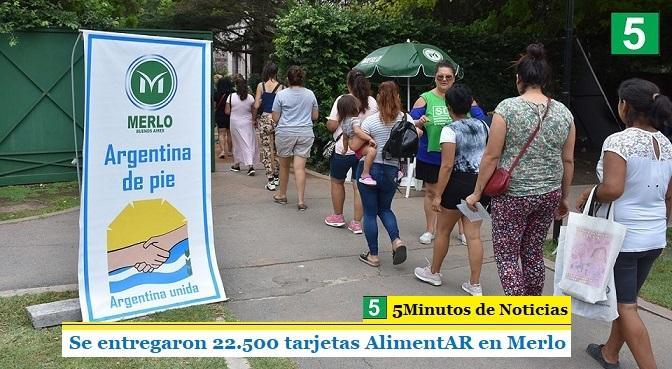 Se entregaron 22.500 tarjetas AlimentAR en Merlo