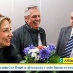 El presidente Fernández llegó a Alemania y este lunes se reunirá con Merkel