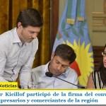 El gobernador Kicillof participó de la firma del convenio Compra Cerca, con empresarios y comerciantes de la región