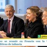 Fabiola Yáñez se reunió en Francia con la Unesco para coordinar políticas de infancia