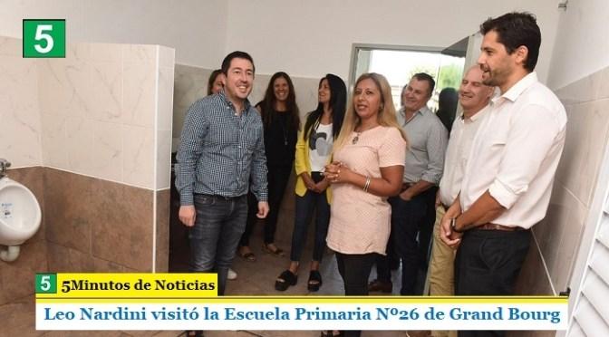 """Leo Nardini visitó la EP Nº26 de Grand Bourg: """"Trabajar en las escuelas ya se convirtió en una política de Estado"""""""