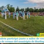 """""""Juanchi"""" Zabaleta participó junto a miles de vecinos del cierre de las colonias de verano del municipio de Hurlingham"""