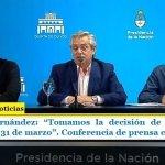 """Presidente Fernández: """"Tomamos la decisión de suspender las clases hasta el 31 de marzo"""". Conferencia de prensa completa"""